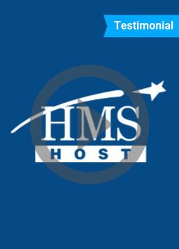 HMS Host Agilence testimonial